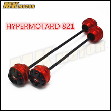 цена на Free shipping For DUCATI HYPERMOTARD 821 2013-2015 CNC Modified Motorcycle Front and rear wheels drop ball / shock absorber