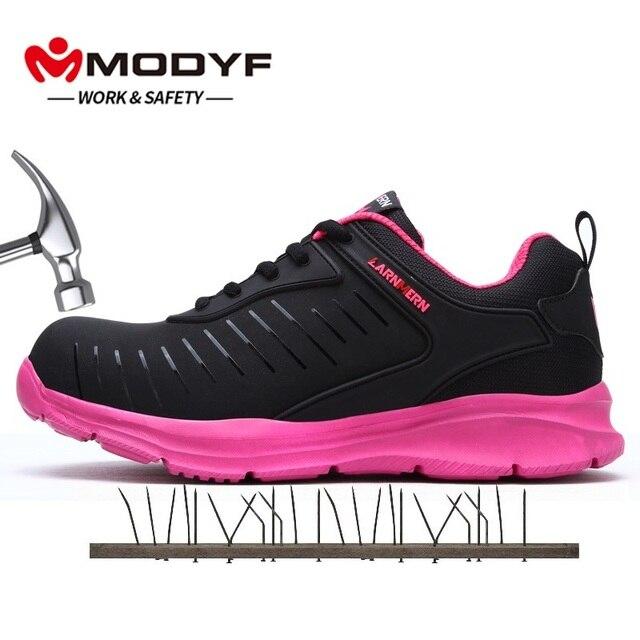 Nữ Giày Xây Dựng Ngoài Trời Cao Hàng Đầu Thép Không Gỉ Mũi Nắp An Toàn Giày Boot Men Đâm Thủng Chống Giày Công Sở Giày
