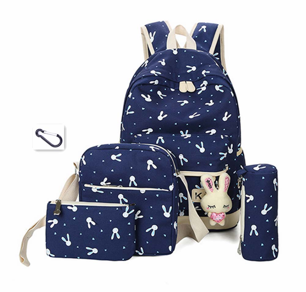Women Backpack school bag for teenagers girls Preppy Style composite bags set travel female backpacks free