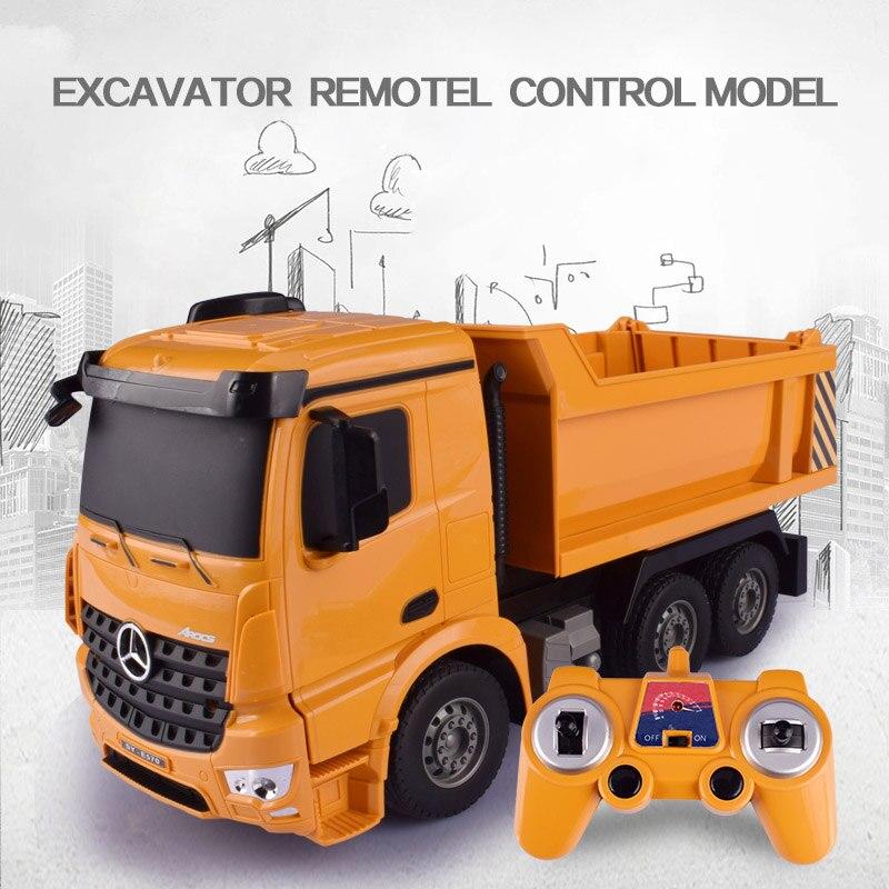 HELIWAY 1:26 Original Rc camión listo para ir excavadora juguete Control remoto ingeniería camión volquete modelo vehículo Juguetes