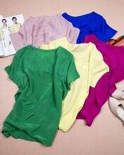 2017 silk natural silk crepe de chine basic women's short-sleeve shirt solid color t shirts top