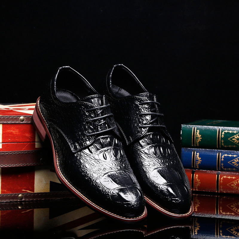 Objective 2018 New Fashion Style Designer Formal Mens Dress Shoes Genuine Leather Luxury Wedding Shoes Men Flats Office Shoes Lc7070 Men's Shoes