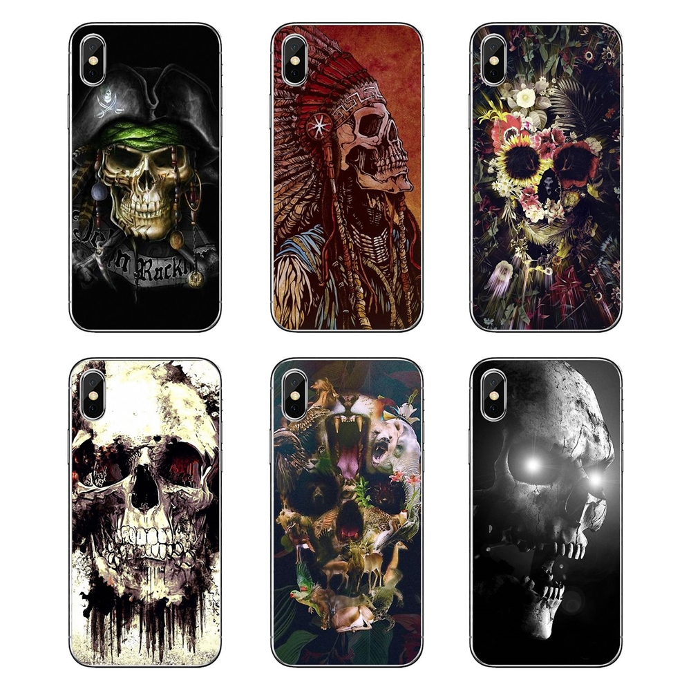 Faithful The Punisher Horrible Halloween Skull Pastel Art For Huawei P20 Lite Nova 2i 3i 3 Gr3 Y6 Pro Y7 Y8 Y9 Prime 2018 2019 Soft Cases Latest Fashion Half-wrapped Case Phone Bags & Cases
