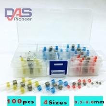 100 قطعة مقاوم للماء لحام الختم الحرارة يتقلص بعقب موصلات