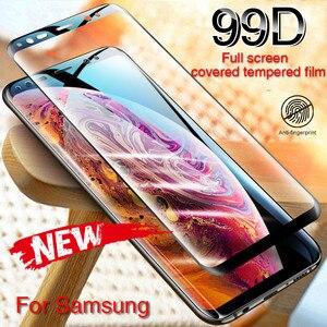 Image 5 - 99D زجاج مقسى منحني بالكامل لسامسونج جلاكسي S9 S8 بلاس نوت 8 9 واقي شاشة على S8 S9 S7 S6 Edge غشاء واقي