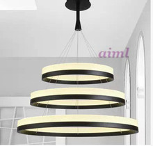 LED acrylic  2 Lights  circular droplight sitting room Fashion and contracted Dining-room bedroom study lamp project lamp new acryl led leisure pendant lamp contracted restaurant sitting room 3 4 head light stepless adjusted office study lamp