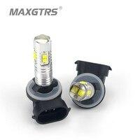 2 X H27 881 LED 30W CREE High Power Car Daytime Running Light Driving Fog DRL