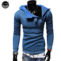 2017 Hoodies Men Sudaderas Hombre Hip Hop Mens Brand Oblique Zipper Buttons Hoodie Sweatshirt Suit Slim Fit Men Hoody XXL