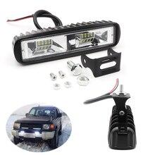 Niscarda 6 дюймов 12 В 48 Вт 16 светодиодный свет бар работа лампа луч лампы вождения автомобиля Противотуманные фары для Jeep тягач лодка прицеп