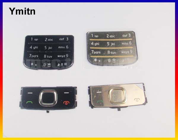 New Black/Silvery/Golden Ymitn <font><b>Housing</b></font> Home main menu keypads button cover case For <font><b>NOKIA</b></font> <font><b>6700</b></font> 6700C image