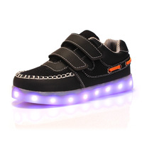 Size 25 35 2016 USB Charging Kid Light Up Shoes Children Neon Led Slippers Do With