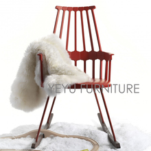 Modern design plastic and solid wooden Rocking Chair. Fashion leisure chair. rocking chair with armrest. Plastic Rocking Chair(China)