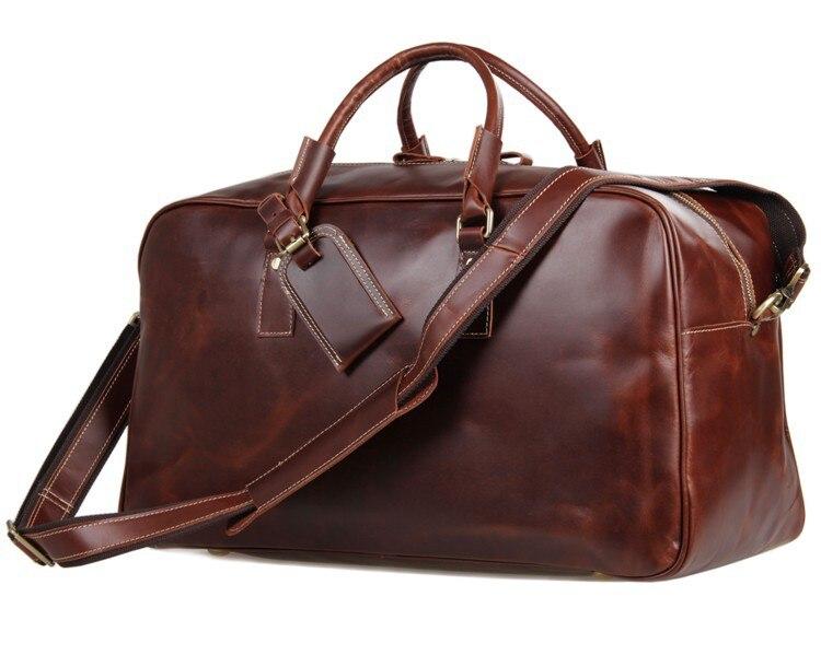 Travel Duffle Bag For Man Vintage Fashion  Large Capability Tote  Weekend Bags 2019 Male Designer Handbag Laptop Business Bags