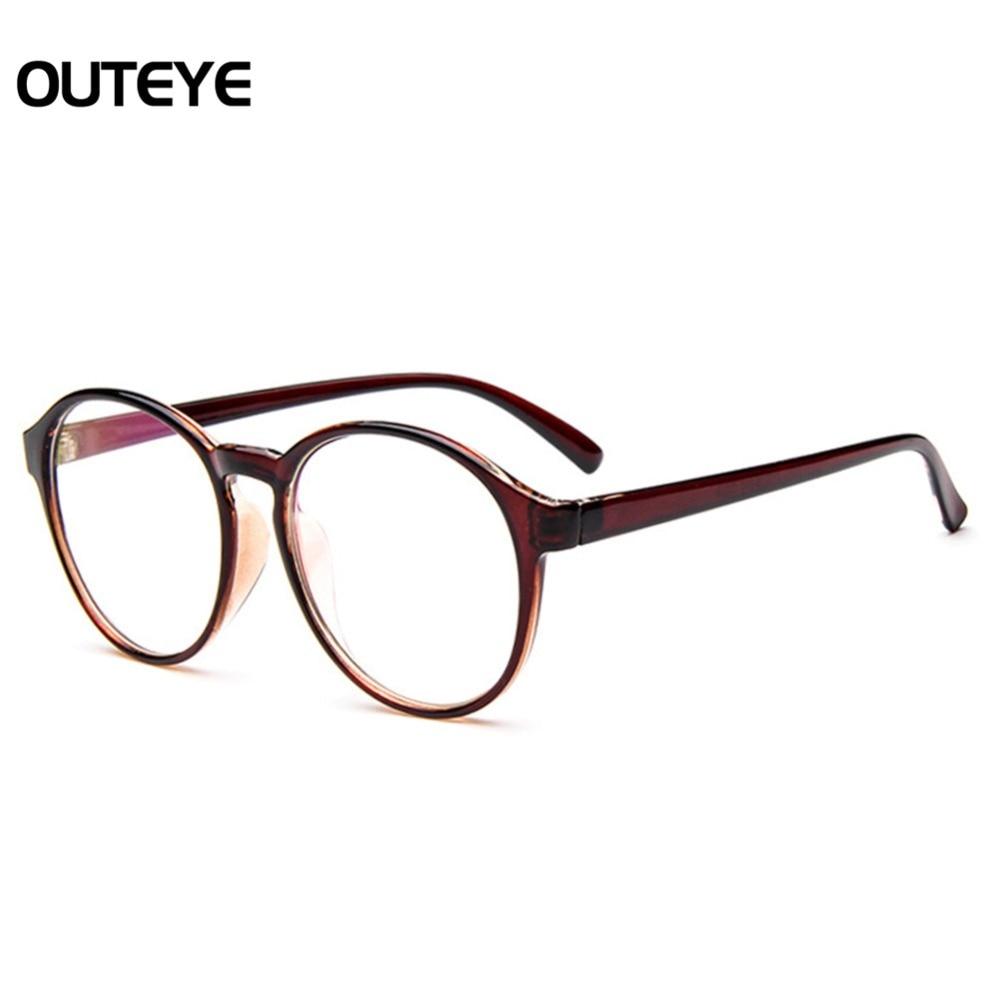 ₩Óptico Gafas Marcos ojo Gafas con lente transparente vidrio hombres ...