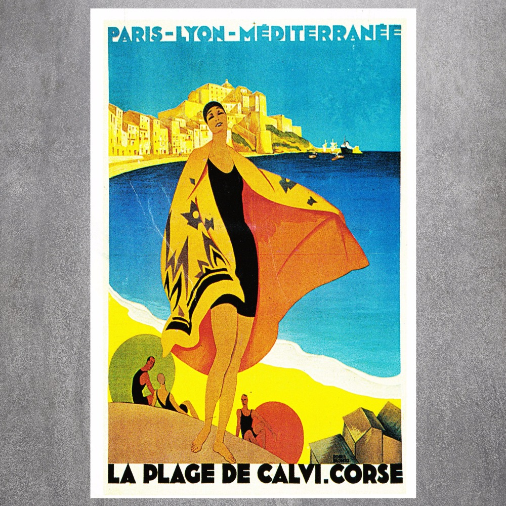 Paris Lyon Travel Quote Modern Poster Art Wall Pictures Silk Fabric ...