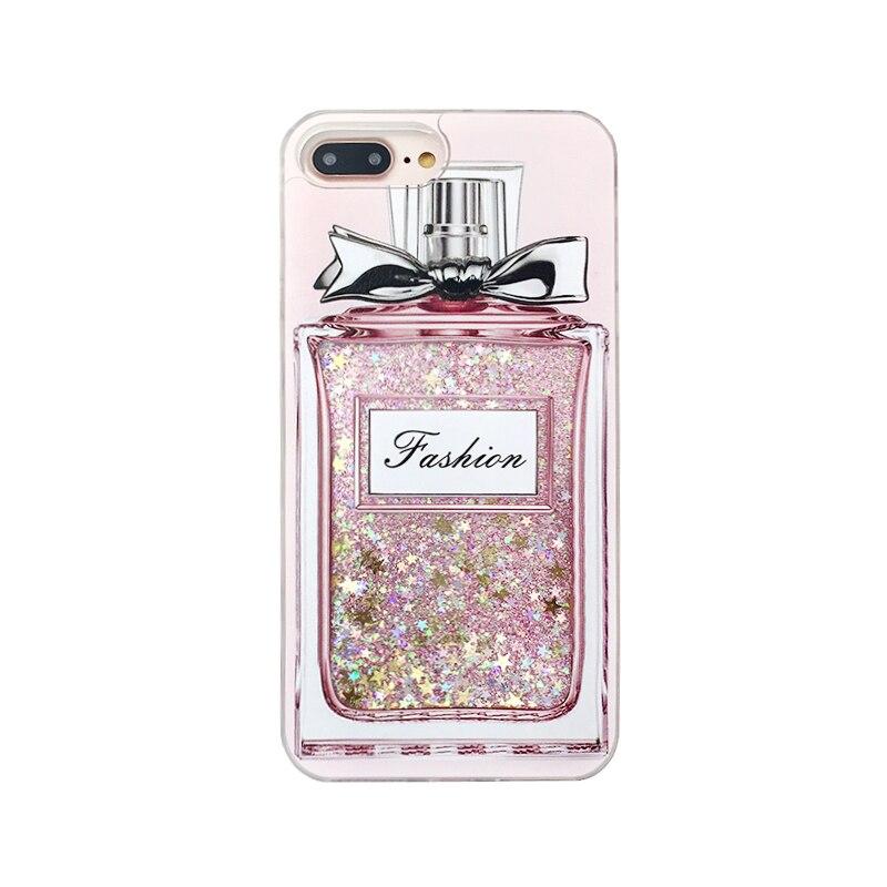 Préférence Mode De Luxe Fille Rose Bling Bouteille De Parfum Cas de Téléphone  VA36