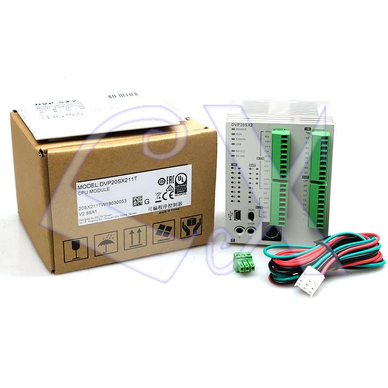 Original Delta DVP20SX211T PLC 24VDC 8(4AI) 6(2AO) Transistor(NPN) Output  Module Analog In Box