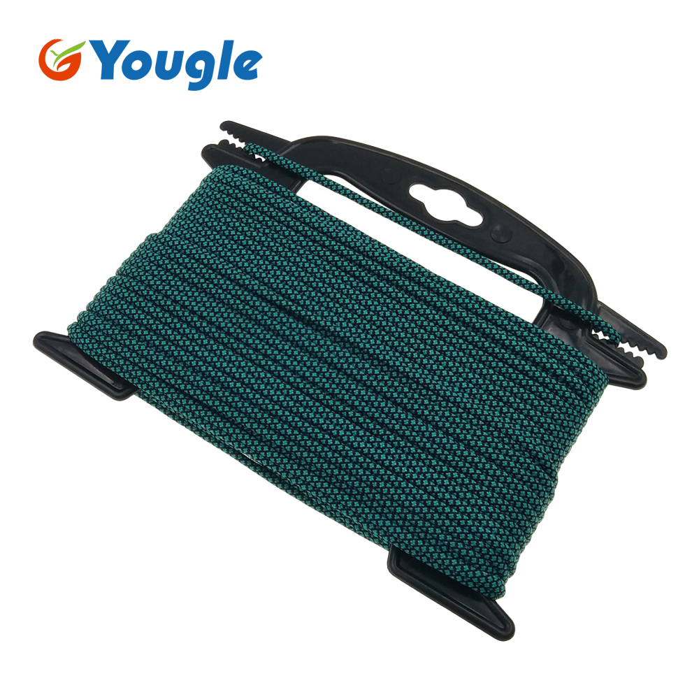 YOUGLE 31 colors Paracord 550 Parachute Cord Lanyard Rope Mil Spec Type III 7 Strand 100FT Climbing Camping survival equipment iqiuhike multifunction parachute 550 popular type iii 7 strand paracord cord lanyard mil spec core 100ft camping survival tool
