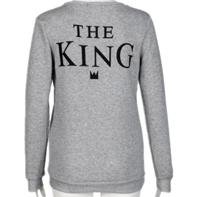 Lovers 2016 Fleece English letters printed Hot Fashion King women queen