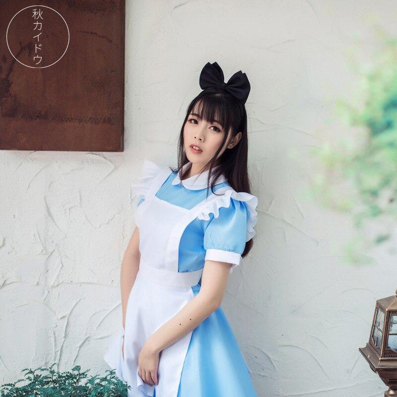 Горячая аниме Алиса в стране чудес наряд горничной аниме показать Косплэй костюм o