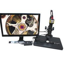Cheaper High-speed 60 industrial microscope camera HDMI interface 1080P +Big Boom Stereo Table Stand+180X C-MOUNT Lens+ LED Light