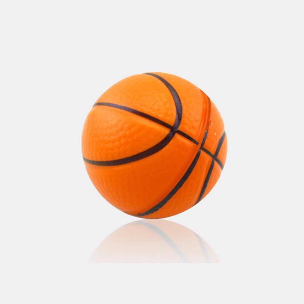 Miękka pianka piłka miękkie wyciskanie piłka koszykówka paski do telefonu Squishy 6.3 CM pomarańczowy rąk nadgarstka ćwiczenia Stress Relief wycisnąć