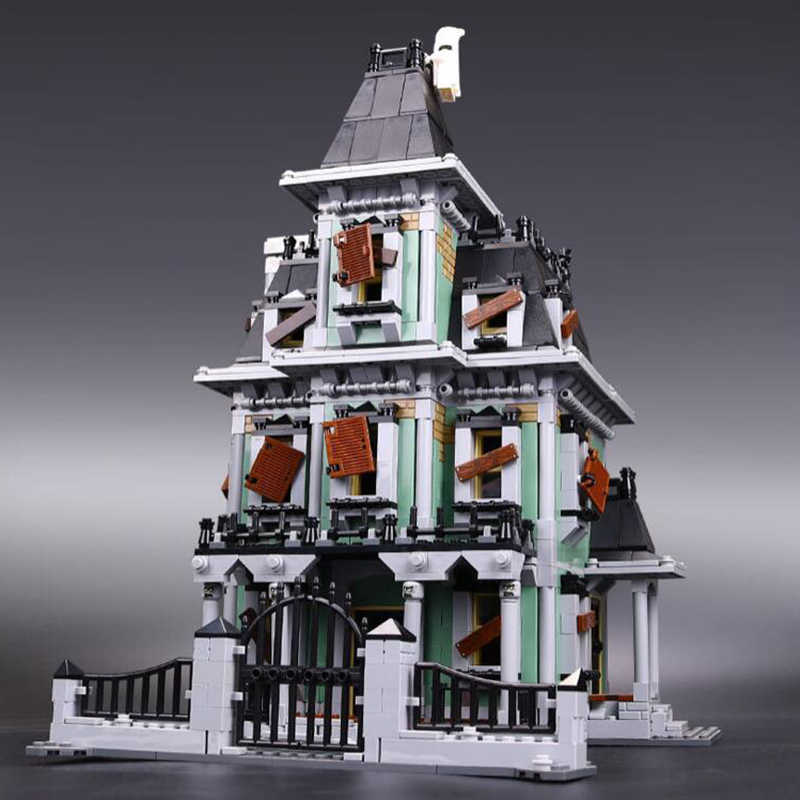 16007 2141Pcs Monster fighter The haunted house Model set Building Kits Model Compatible With 10228 Educational Toys Gifts 2141pcs the haunted house model set building kits block toy 16007 diy monster fighter educational blocks toys for children