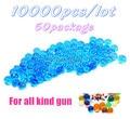 Envío gratis 10000 unids/lote 50 paquete de agua cristalina Paintball pistola de bala accesorios de juguete CS juego de pistola pistola Nerf bala