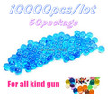Free Shipping 10000pcs/lot 50 Package Soft Crystal Water Paintball Bullet Gun Toy Accessories CS Game Pistol Nerf Gun Bullet