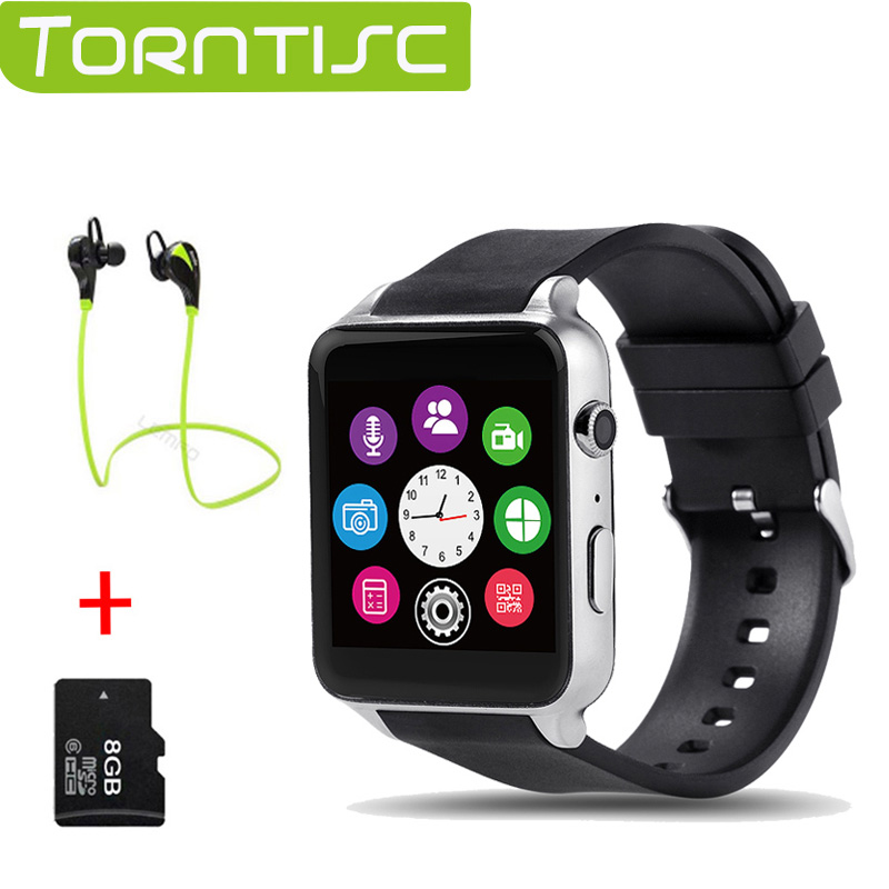 Torntisc GT88 Bluetooth Smartwatch phone Wrist Smart Watch Heart Rate Monitor Support TF SIM Card for