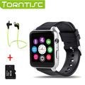 Torntisc gt88 bluetooth smartwatch telefone smart watch heart rate monitor de pulso apoio tf cartão sim para a apple ios android os