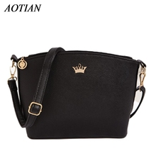 2017 Hot Sold Mini Women Messenger Bags Shell Shaped Cross Pattern Good Quality Women Bag With Imperial Crown D33Ma20