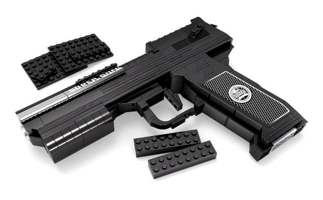 ФОТО 373pcs Desert Eagle Pistol Power GUN Weapon Arms Model 1:1 3D Model Brick Gun Building Block Set Toy Gift For Children
