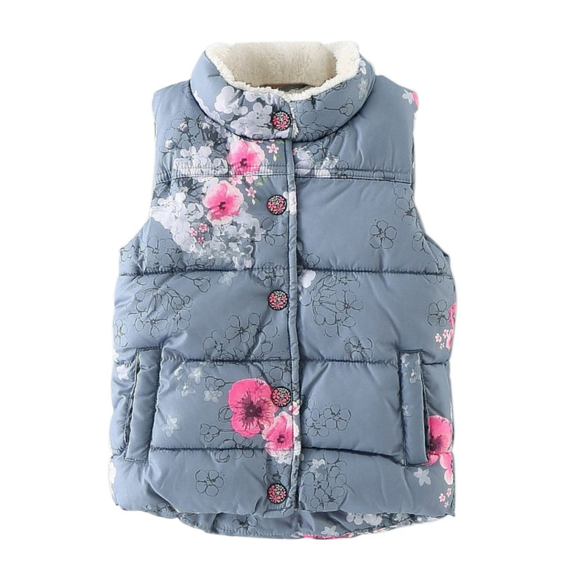 The Internation Shopping Store Autumn Outerwear Kid Girls Coat Floral Printed Streetwear Fashion Winter Vest Baby Girls Coat Jackets Baby Outerwear
