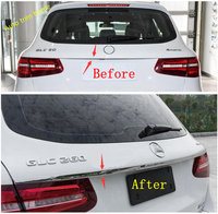 Lapetus Upper Rear Tailgate Trunk Tail Door Overlay Strip Cover Trim Fit For Mercedes Benz GLC X253 2016 2019 Auto Accessories