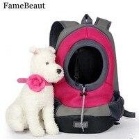 FameBeaut Moda Cat Dog Pet Carrier Bolsa de Viaje Portátil Mochila Delantera Bolsa De Malla Bolsas de Transporte Para Perros Mascotas Al Aire Libre