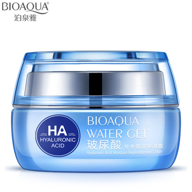 BIOAQUA Brand Hyaluronic Acid Moisturizing Face Cream Anti Wrinkle Anti Aging Improve Dry Skin Collagen Whitening Day Cream 50g