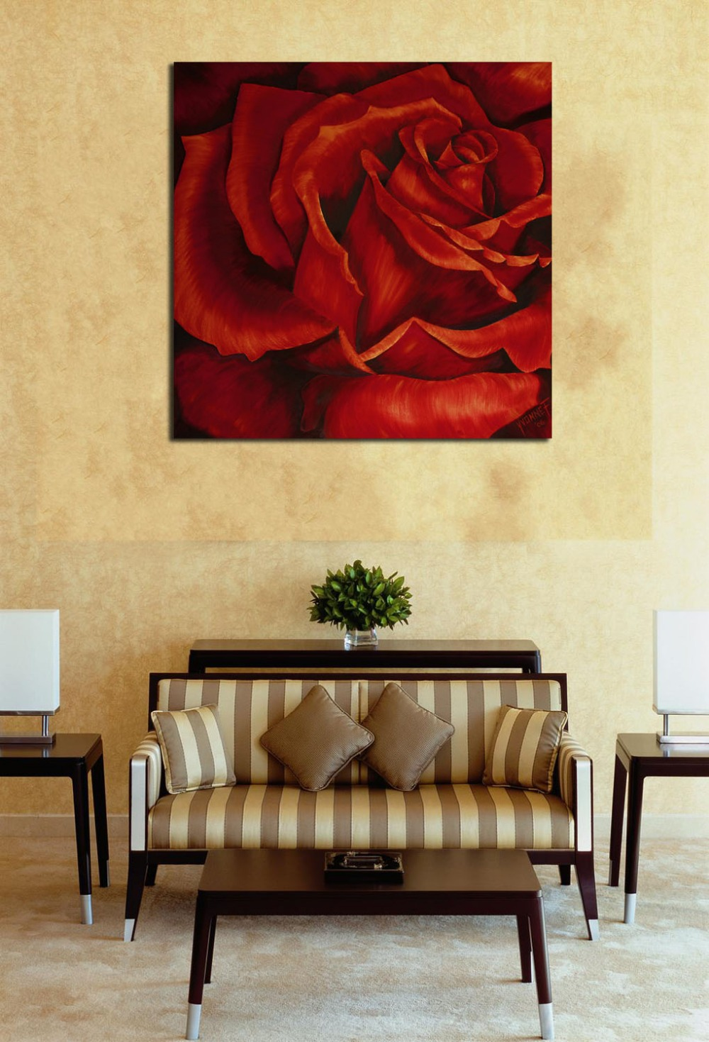 Fashion Blood red Rose Flower Canvas Print Art No Frame Wall Picture ...