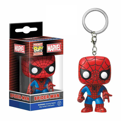 FUNKO POP брелок Marvel странные вещи Капитан Америка Сейлор Мун Игра престолов малефисент с коробкой - Цвет: SPIDER-MAN