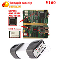 Newest V160 Renault can clip with Full Chip AN2135SC/2136SC Auto Diagnostic interface with best quality with multi-languages