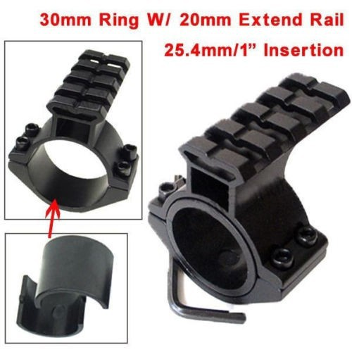 1pc Rifle Scope Mount Barrel 1/ 25.4mm 30mm Ring Adapter w/ 20mm Scope Weaver Picatinny Rail Mount with Insert caza hunting rbo 1 25 5x26 rifle scope 30mm scope ring mount weaver mount rifle scope rbo m2048