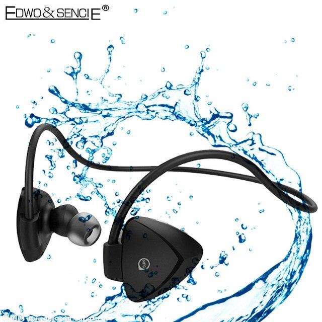 EDWO A840BL Waterproof Wireless Earphone NFC BT4.0 Super Bass Bluetooth Headset With Mic For iPhone 7 Samsung Xiaomi Huawei Sony