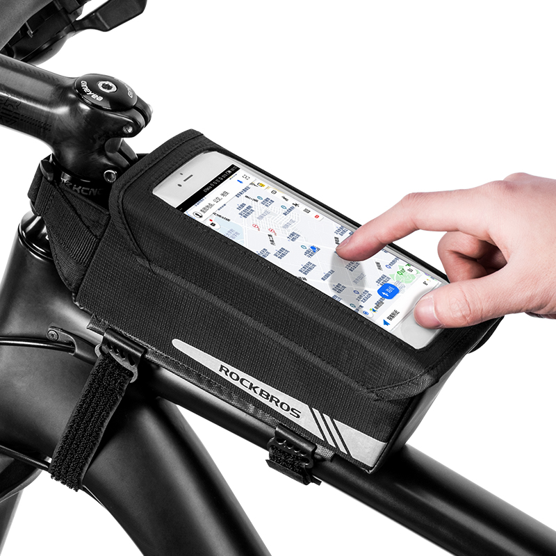 ROCKBROS TPU Touch Screen Rainproof Cycling Bike Bag Phone Bicycle MTB Road Magnetic Front Accessories