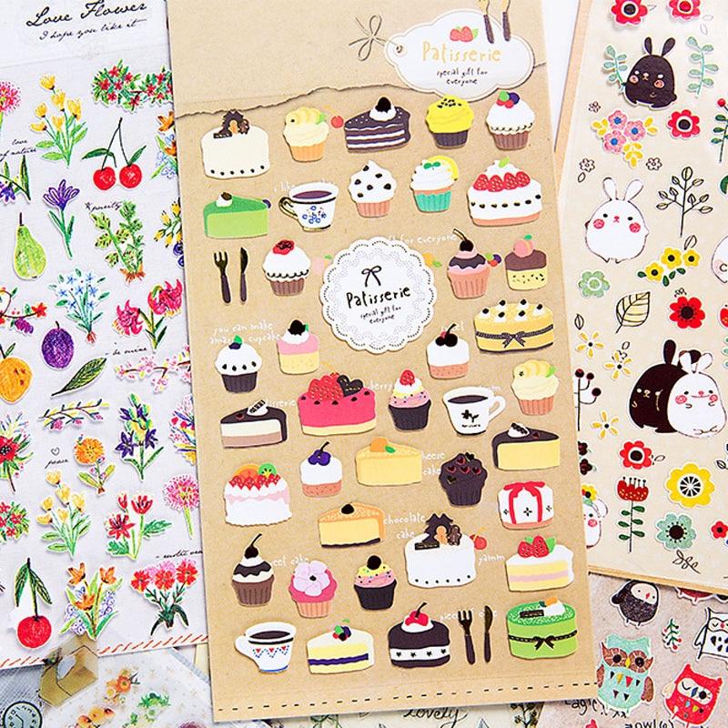Office & School Supplies 1 Pcs/lot Korean Creative 3d Stickers Fashion Brand Kids Toys Cartoon Cute Children Girls Boys Pvc Stickers Bubble Stickers Tz12 Fragrant Aroma