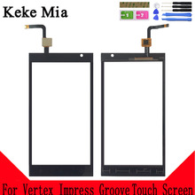 Keke Mia 5.0 Front Glass Sensor Panel Replacement Touchscreen For Vertex Impress Groove Touch Screen Digitizer tablet touch for tesla neon 8 0 touch screen digitizer touchscreen glass replacement repair panel