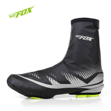BATFOX Polyester Neoprene Bike Shoes Cover MTB Cycling Overshoes Waterproof Windrproof Anti-Wear Warm Soft Bicycle Shoes Cover