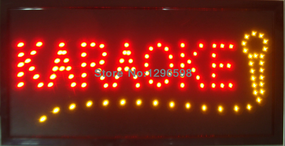 2017 Led karaoke sign new coming 10X19 inch indoor Ultra Bright flashing customed karaoke store Led sign