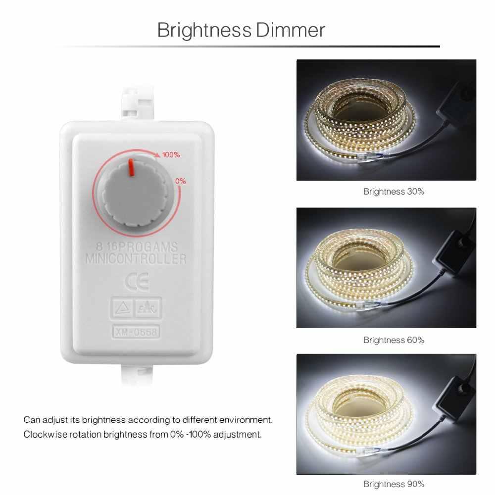 AIMENGTE 1 м/5 м/10 м/15 м/20 м/25 м Диммируемый 220 В светодиодный светильник SMD2835 IP67 водонепроницаемая силиконовая трубка для рождественского внутреннего декора