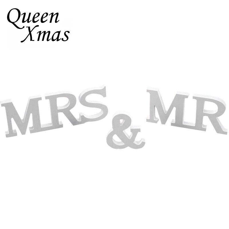 Свадебные украшения английскими буквами Mr & Mrs романтический декор День рождения украшения белые буквы свадьба знак вечерние поставки