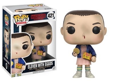 FUNKO POP  10cm Stranger Things ELEVEN WITH EGGOS Hand DEMOGORGON Action Figure Bobble Head Q Edition For Car Decoratio